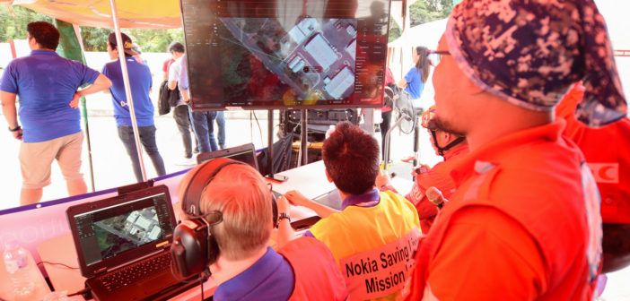 Nokia drones aid Philippine Red Cross